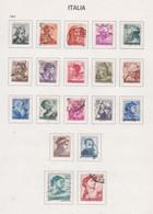 Italie N° 826  / 44 O  Série Courante.  Les 19 Valeurs  Oblitérées,  TB - 1946-60: Used