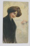 97991 Cartolina Illustrata - Donnine - Donne