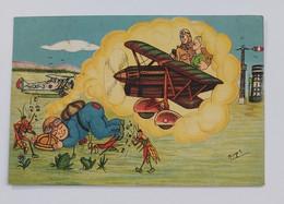 98023 Cartolina Illustrata - R. Accademia Aeronautica MAK ? 100 - VG 1940 - Humour