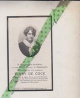 Flory De Cock, Gent 1911, Brugge 1930. Foto - Obituary Notices
