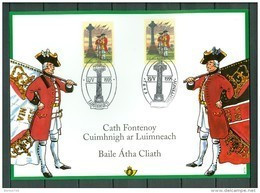 Belgium/Ireland 1995 - HK 2600 - The Battle Of Fontenoy  (2 Scans) - Erinnerungskarten