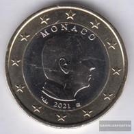 Monaco MON 7 2021 Stgl./unzirkuliert 2021 Kursmünze 1 Euro - Monaco