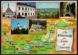 F3879 - TOP Silberstraße Zwickau Schwarzenberg - Bild Und Heimat Reichenbach Qualitätskarte - Zwickau