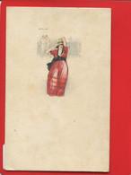 CPA Illustrateur Mauzan Jeune Femme Court Tennis En Arriere Plan  écrite De Wiesbaden à Mulhouse 1920 - Mauzan, L.A.