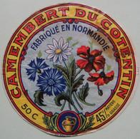 Etiquette Camembert - Fleurs Des Champs - Fromagerie Anonyme 50-C Normandie - Manche   A Voir ! - Cheese