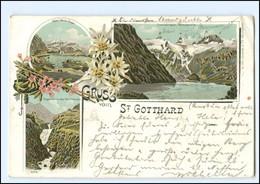 Y14517/ Gruß Vom St. Gotthard Litho AK 1899 - Ohne Zuordnung