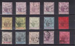 MAURITIUS 1895/1909 LOT ARMS  (CA Or MCA Wmk)  USED - Mauritius (...-1967)