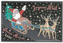 CPM De Patrick HAMM Bonne Année 2002 Et Joyeux Noel Tirage Limité 1200 Ex , Exemplaire N° 0077 Pere Noel Rennes - Hamm