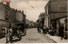 Carte Postale - FONTENAY-sous-BOIS (94) - Rue St Germain - 1908 - Attelage - - Fontenay Sous Bois