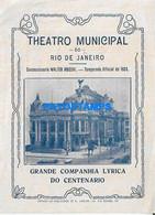 170005 BRAZIL BRASIL RIO DE JANEIRO THEATRO MUNICIPAL YEAR 1922 PROGRAMA NO POSTAL POSTCARD - Non Classés