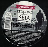 Portugal étiquette Ronde Sur Support Plastique Amanhecer  Requeijão De Ovelha Seia Fromage - Cheese