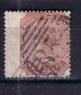MAURITIUS 1880 QV 2C/ CC Wmk/ SG 18 USED WING MARGIN - Mauritius (...-1967)