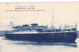 Souvenir De Voyage Maréchal Joffre - Nouveau Paquebot Des Messageries Maritimes - Passagiersschepen