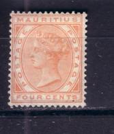 MAURITIUS 1879 QV 4C/ CC Wmk/ SG 19 UNUSED NO GUM/ UNGEBRAUCHT OHNE GUMMI (*) CV GBP 30 - Mauritius (...-1967)