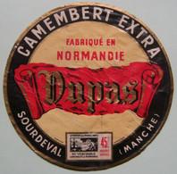 Etiquette Camembert - EXTRA - Fromagerie M.Dupas à Sourdeval 50 Normandie - Manche   A Voir ! - Cheese