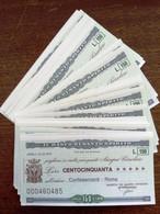 INTERESSANTE LOTTO DI 25 ESEMPLARI PROGRESSIVI - IL BANCO DI SANTO SPIRITO - CONFESERCENTI - ROMA MINIASSEGNI - NOTE - [10] Checks And Mini-checks