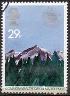 GREAT BRITAIN 1983 Commonwealth Day. 29p Mountain Range - Oblitérés