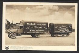 SAURER CAMION 5 TONNES AVEC REMORQUE N°C176 MOBELTRANSPORT G. RIESER FRAUNFELD - Camions & Poids Lourds