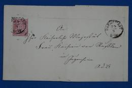 AA16  CONFEDERATION  ALLEMAGNE NORD   BELLE  LETTRE  1868   DARMSTADT  + 3 KREUZER   + AFFRANCH. INTERESSANT - Norddeutscher Postbezirk