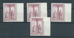 N°1011** Numéros De Planche 1à4 - ....-1960