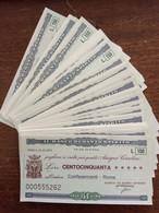 INTERESSANTE LOTTO DI 35 ESEMPLARI PROGRESSIVI - IL BANCO DI SANTO SPIRITO - CONFESERCENTI - ROMA MINIASSEGNI - NOTE - [10] Checks And Mini-checks