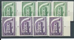 N°994/995** EUROPA Numéros De Planche 1à4 - ....-1960