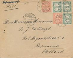 Nederlands Indië - 1926 - 5 Zegels Op Cover Per Mail Van LB Indramajoe Naar Roermond / Nederland - Netherlands Indies