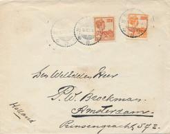 Nederlands Indië - 1922 - 12,5c Op 17,5c & Op 22,5c Wilhelmina Op Cover Van Weltevreden Naar Amsterdam / Nederland - Netherlands Indies