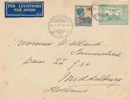 Nederlands Indië - 1931 - 12,5c Op 20c Wilhelmina + 75c Luchtpost Op Cover Van Buitenzorg Naar Middelburg / Nederland - Netherlands Indies