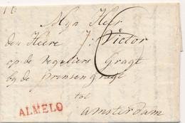 Nederland - 1817 - Complete EO Vouwbrief Van L ALMELO Naar Amsterdam - PEP 7010-01zn - ...-1852 Prephilately