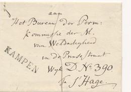 Nederland - 1825 - EO-Omslag Van L KAMPEN Naar Den Haag - PEP 7160-07 - ...-1852 Prephilately