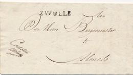 Nederland - 1816 - Complete EO Vouwbrief Van L ZWOLLE Naar Almelo - PEP 7330-07zn - ...-1852 Prephilately