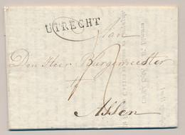 Nederland - 1814 - Complete EO Vouwbrief Van L UTRECHT Naar Assen - PEP 8180-07zn - ...-1852 Prephilately