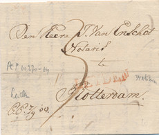Nederland - 1818 - Complete EO Vouwbrief Van L LEYDEN Naar Rotterdam - PEP 10270-14 - ...-1852 Prephilately
