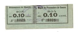 1914- 1918 // P.O.W. // Bon De Prisonnier De Guerre // BOYARDVILLE (Ile D'Oléron) // 10 Centimes - Bonds & Basic Needs