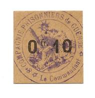 1914- 1918 // P.O.W. // Bon De Prisonnier De Guerre // BOURLEMONT // CARRIERES DE LA CHICOTTE // 10 Cts - Bonds & Basic Needs