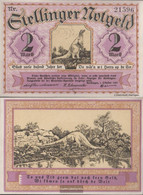 Stellingen Notgeld: 1265.1 2 Mark Notgeld Community Stellingen Uncirculated 1920 2 Mark Tierparkserie - Austria