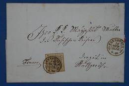 C WURTEMBERG ALLEMAGNE BELLE  LETTRE  1856  CANNSTADT A STUUTTGART +C CIRE ARMORIEE + AFFRANCH. PLAISANT - Wuerttemberg