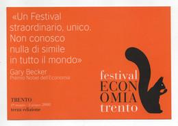 Trento - 2008 - 3^ Edizione Festival Dell'Economia - Non Viaggiata - (FDC31945) - Trento
