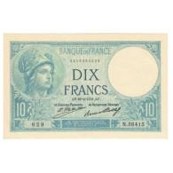 France, 10 Francs, Minerve, 1931, Platet Strohl, 1931-02-19, SUP, Fayette:6.15 - 10 F 1916-1942 ''Minerve''