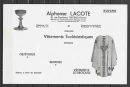 ANCIEN BUVARD OBJETS RELIGIEUX ALPHONSE LACOTE POITIERS - R