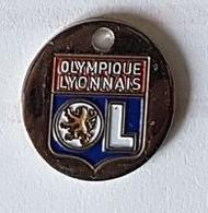 Jeton De Caddie  Ville, Sport  Club  Foot-ball  O.L, OLYMPIQUE  LYONNAIS     ( 69 ) - Einkaufswagen-Chips (EKW)