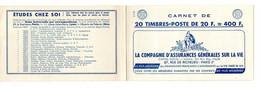 Carnet De Timbres 1011B - Type Muller - 20 Fr. Bleu - Pub SLAVIA - Otros