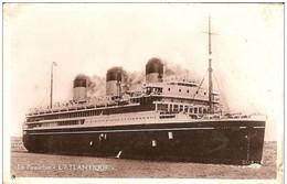 """Le Paquebot"""" L,ATLANTIQUE""""  ( 2 Trous Punaise ) - Passagiersschepen"""