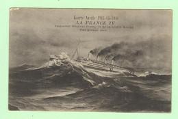 S1129 - Bateau, Paquebot, Guerre Navale 1914-15-16 - La France IV - Paquebot Hôpital De La Croix Rouge - Passagiersschepen