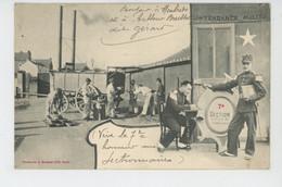 EPINAL (postée à EPINAL) - REGIMENTS - Jolie Carte Militaire Avec Boulangerie De Campagne 7ème Section - Edit. BERGERET - Epinal