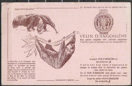 ANCIEN BUVARD VELIN D ANGOULEME N° 7 FOURMILIER - Stationeries (flat Articles)