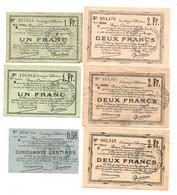 1914-1918 // Ville De DOUAI & CARVIN (59 Nord) // Emission Collective // Mai 1916 // 6 Bons - Bonds & Basic Needs
