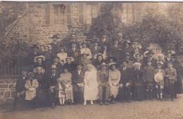 Carte Photo Tréguier 1921 Photo Mariage  Famille Plusquellec Coiffes Du Trégor Et Du Pays De St Brieuc Réf 9953 - Identified Persons