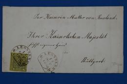 AA16 WURTEMBERG ALLEMAGNE BELLE LETTRE 1856 PETIT BUREAU  LEONBERG A STUTTGART +C CIRE ARMORIEE + AFFRANCH. PLAISANT - Wuerttemberg